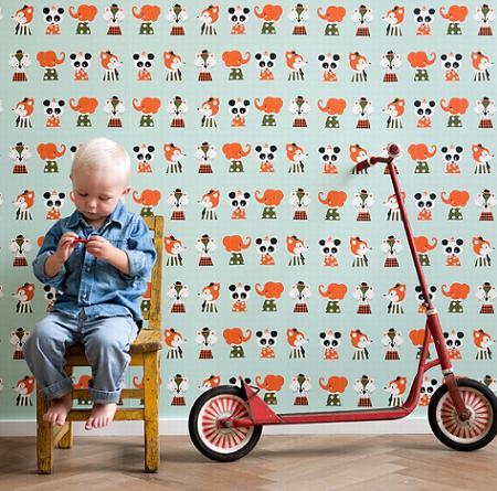 Papel pintado infantil de Harlequin