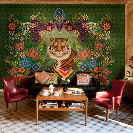 Papel pintado de tigre