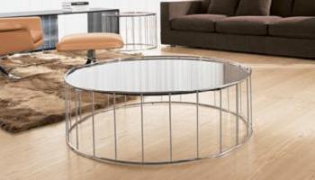 mesa de centro circular de Minotti
