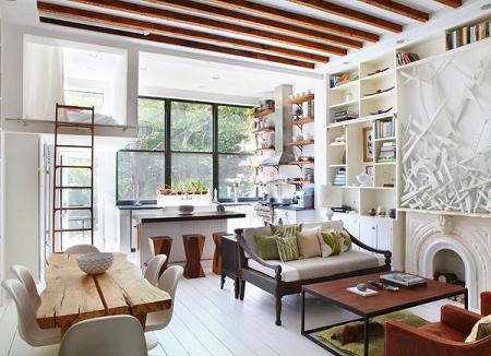 6 salones de estilo r stico moderno decoraci n for Estilo rustico moderno