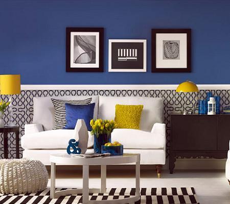 Salones en azul