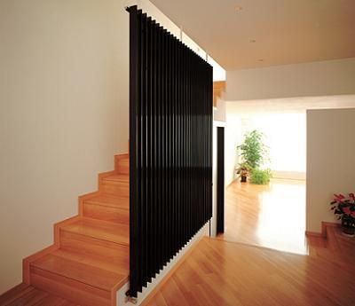 decorar una escalera con un radiador