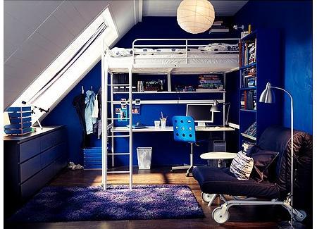 Cama alta de Ikea