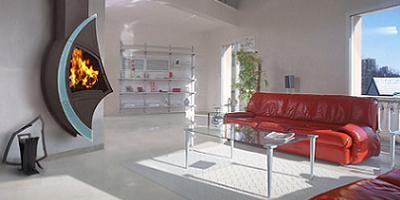 chimenea de diseño para pared de arkiane