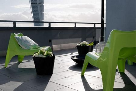 Balcón minimalista