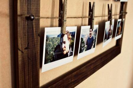 Colgar fotos en cuerdas