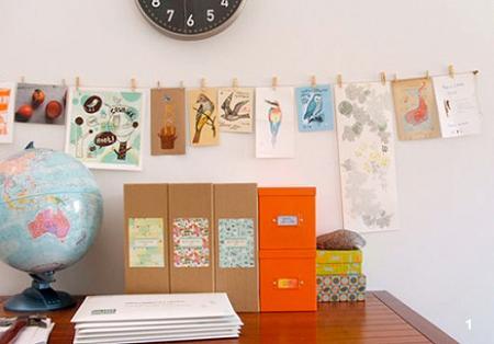 Colgar postales