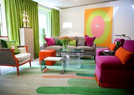 decoración de colores complementarios