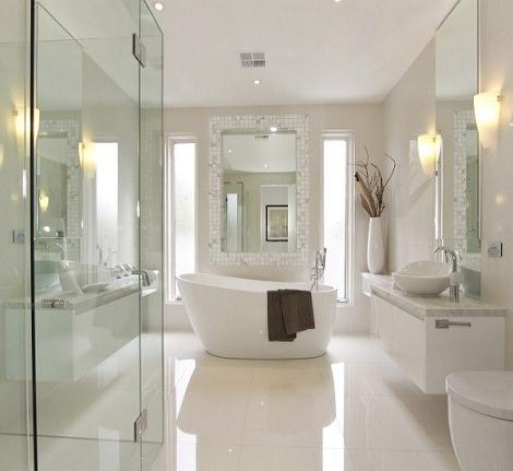decoración de interiores moderna; baño