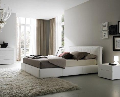 decoración de interiores moderna; dormitorio
