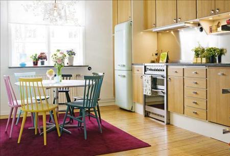 Sillas de colores para la cocina