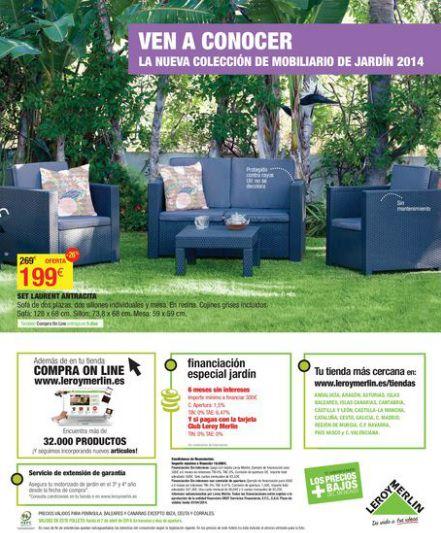 sillones de jardín de leroy merlín jardín 2014