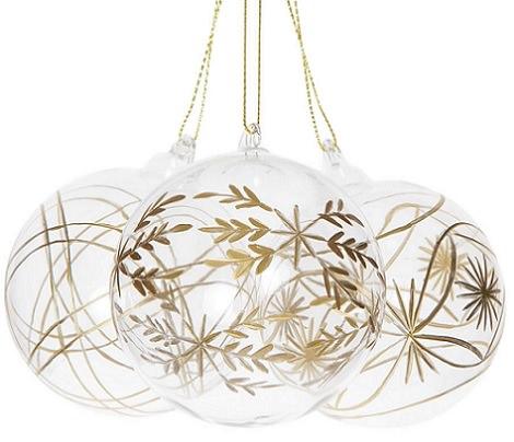 bolas doradas de navidad para el árbol de zara home