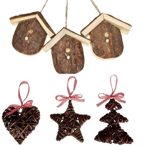 adornos con formas de navidad para el árbol de zara home