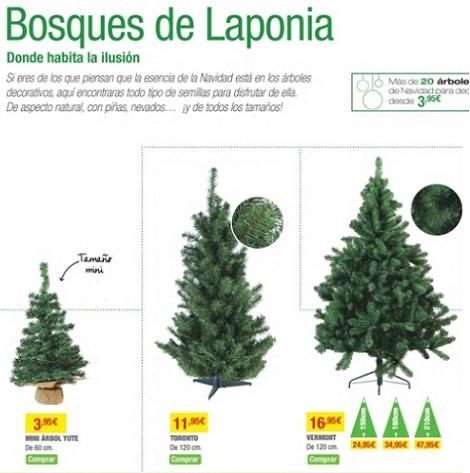 catálogo de leroy merlín navidad 2013 árboles