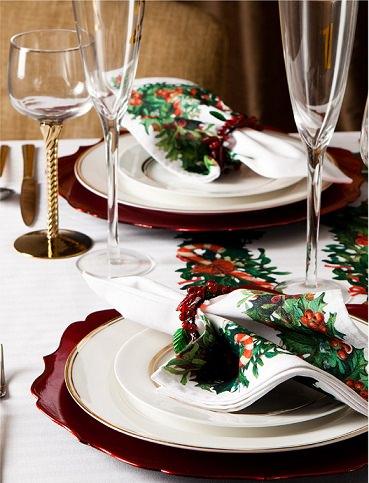 decora tu mesa para Navidad con el catálogo de Zara home