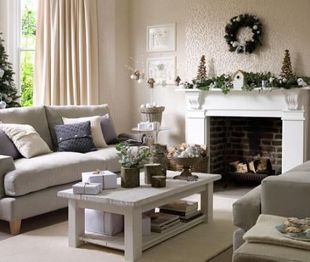 Decoración de Navidad, en blanco