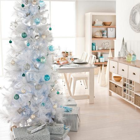 Decoracion de navidad blanca