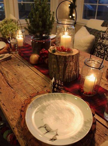 fotografías de inspiración para decorar tu casa en navidad centros de mesa