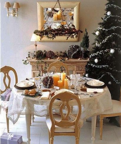 fotografías de inspiración para decorar tu casa en navidad mesa
