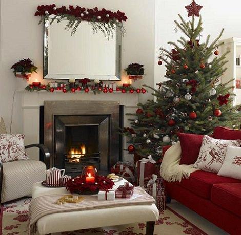 fotografías de inspiración para decorar tu casa en navidad de rojo