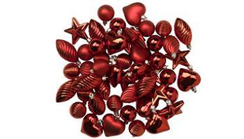 adornos de navidad en rojo