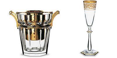 copas de champagne de Baccarat