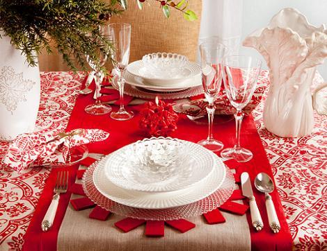 Mantel rojo de Navidad