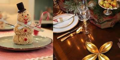 decoraciod de la mesa de navidad