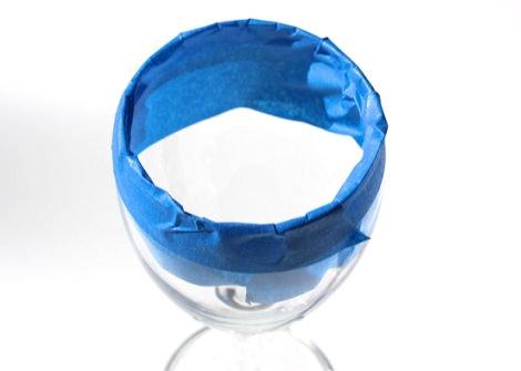 recicla tus copas viejas para navidad cinta adhesiva