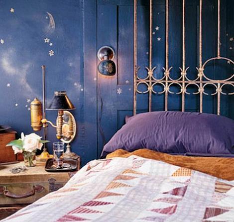 Paredes originales en el dormitorio