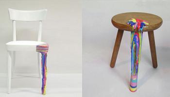 sillas con colores