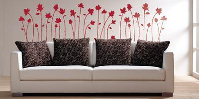 sofá decorado con vinilo