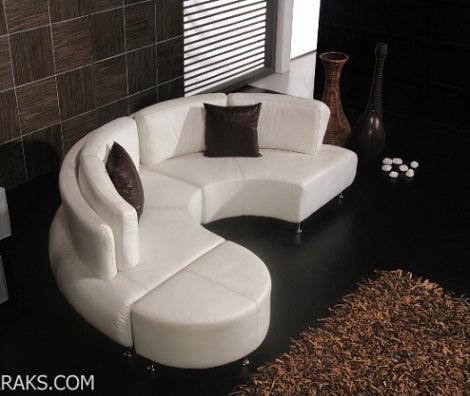 sillón circular blanco