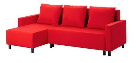 Sofá-cama rojo