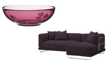 cuenco SYNTES SKISS y sofa TYLOSAND de ikea