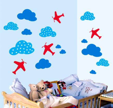 Vinilos adhesivos de myvinilo para dormitorios infantiles decoraci n - Vinilos para habitacion de bebes ...