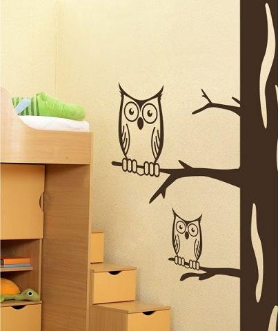 vinilos decorativos con buhos para dormitorios infantiles