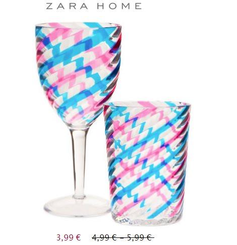 vasos de rebajas de zara home verano 2014
